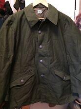 Vintage 60s Vietnam War & Cold War Era Swedish Army Military Green Field Jacket.