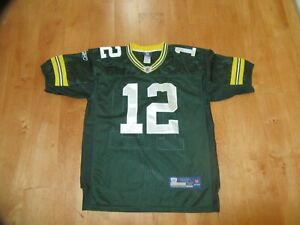 Men's Reebok Green Bay Packers Aaron Rogers #12 Stitched Jersey 48