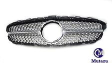 Diamond Grill Grille Mercedes Benz W205 C Class C250 C300  C450 AMG Sport 15-18