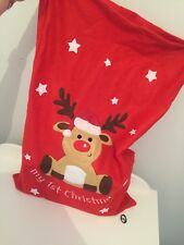 babys first christmas sack rudolph and xmas star gift stocking decorations