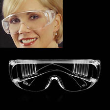New Work Safety Glasses Clear Eye Protection Wear Spectacles Goggles ~F