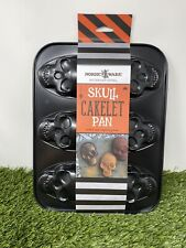New Nordic Ware Haunted Skull Cakelet Pan 3 Cup Capacity Rare Free Shipping🔥👀