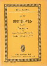 Ludwig Van Beethoven Concerto Op.56 for piano, violin pub Eulenburg No.729