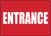ENTRANCE | Adhesive Vinyl Sign Decal