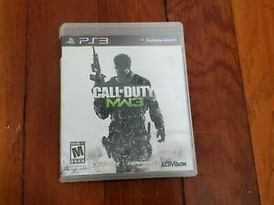 Sony PS3 Call Of Duty MW3 Video Game Disc Case Manual Tested Cleaned