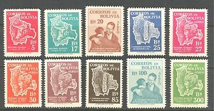 BOLIVIA 1954, DOMESTIC ANIMALS, AGRONOMY, AGRICULTURE,  Sc 384-7,C176-C181 MNH
