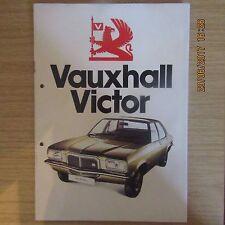 VAUXHALL VICTOR 1800 1.8 2300 2.3 Saloon Estate UK Market Sales Brochure 1974