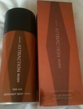 2 x Avon Attraction For Him EDT 75ml & Body Spray 150ml (RUSH)