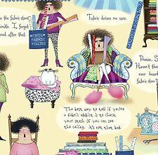 Tela Follie-Quilting Treasures, coser, viñetas, citas de tela