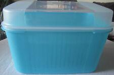 Tupperware A 04 Schatztruhe Schatzkiste Behälter 7,3l Hellblau Blau Weiß Neu OVP
