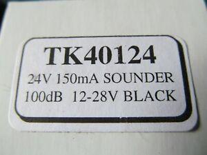 CLEARANCE. 12-24V BLACK 150mA 100db SOUNDER, BOXED, BRAND NEW