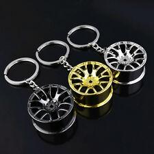 Creative Metal Car Wheel Hub Key Pendant Key Chain Hollow Key Ring Keyfob Gift