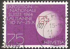 "Switzerland Stamp - Scott #433/A150 75c Purple & Red ""EXPO Emblem"" Canc/LH 1963"