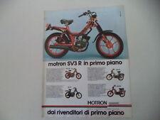 advertising Pubblicità 1980 MOTRON 50 SV3 R/RA G1/GL4 GL 4/RA SV