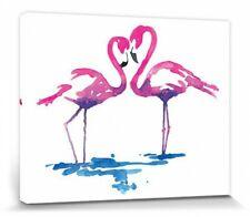 Flamingos - Liebespaar Sarah Stokes Poster Leinwand-Druck Bild (50x40cm) #85819