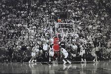 NBA BULLS MICHAEL JORDAN TITLE WINNING SHOT POSTER NEW 36x24 FREE SHIPPING