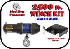 2500lb Mad Dog Synthetic Winch/Mount Kit 2014-2019 Honda Rancher 420 TRX FM & TE