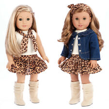 "Adventure - Doll Clothes for 18"" American Girl Jacket Tank Top Skirt Scarf Boots"