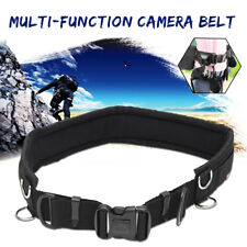 Adjustable Camera Waist Padded Belt Lens Case Pouch Bag Tripod Strap With 8 Ring