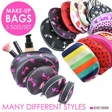 100 х MAKE-UP BAGS 20 SETS X 5 BAGS DIFFERENT STYLES COSMETIC BAGS WHOLESALE UK
