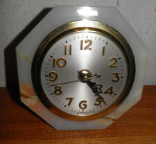 Vintage Onyx Mantel Clock Converted Quartz Movement Sold as is parts Buy It Now
