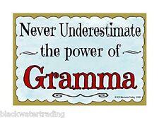 "Never Underestimate Power Gramma Grandmother Fridge Refrigerator Magnet 3.5X2.5"""