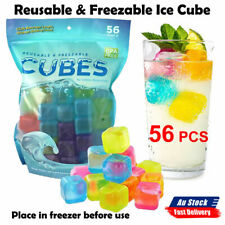 56Pcs Reusable Ice Cube Freezable Water Bottle Cooling Rods BPA Free Refreezable