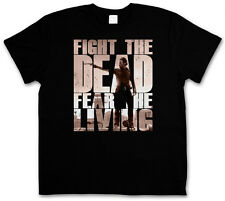 FIGHT THE DEAD FEAR THE LIVING II T-SHIRT - Rick The Walking Grimes Dead T-Shirt
