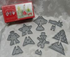3D Cookie Cutters Nordic Ware Plastic 12 Pcs 6 Shapes Christmas Tree Angel EUC