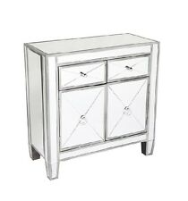 Apollo Antique mirror buffet chest sideboard antique silver finished wood frame