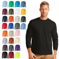Gildan Ultra Cotton Mens Long Sleeve Tee Crewneck S-5XL - 2400