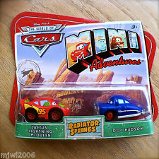 Disney PIXAR Cars MINI ADVENTURES Radiator Springs CACTUS L MCQUEEN & DOC HUDSON