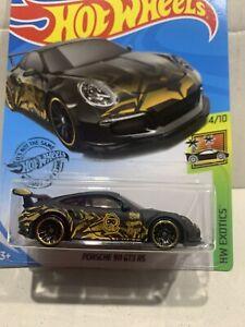NEW 2020 HOT WHEELS PORSCHE 911 GT3 RS BLACK LONG CARD TANNER FOX HW EXOTICS