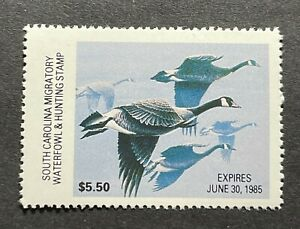 WTDstamps - 1984 SOUTH CAROLINA - State Duck Stamp - Mint OG NH