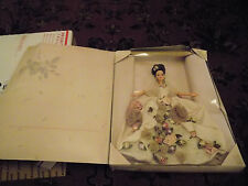 Vtg New FAO Schwarz Antique Rose Barbie Doll 1996 Limited Edition Satin Flowers