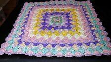 New Handmade Baby Receiving Blanket Pink purple yellow