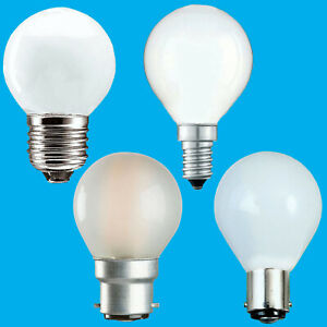 6x Opal Golf Round Dimmable Standard Light Bulbs 25W 40W 60W BC ES SBC SES Lamps