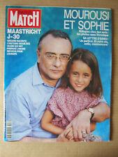 PARIS MATCH 1992 N° 2257 SCHNEIDER. MOUROUSI. MAASTRICHT. RENAULT F1. GALA DALI