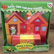 Bath Time Build a Farm Building Blocks x28 pieces Educational Toy Meadow Kids