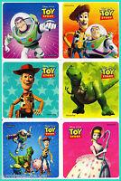 Toy Story Stickers x 12 - Birthday Party Favours - Buzz Lightyear & Woody Disney