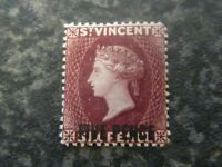 ST VINCENT POSTAGE STAMP SG60 FIVE PENCE ON SIX PENCE LIGHTLY MOUNTED MINT