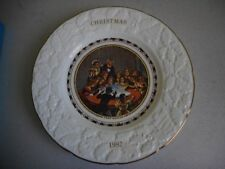 COALPORT 1982 CHRISTMAS PLATE SNAP DRAGON IN BOX WITH LEAFLET DIAMETER 22.5CM