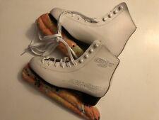 Lake Placid Glider 4000 Women's Figure Ice Skates White Size 6 with 9 1/3 blades
