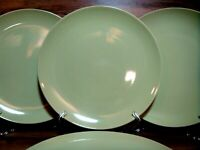 "SET OF 4 - IKEA FARGRIK - LIME GREEN 10 5/8"" DINNER PLATES - 12011 - EUC"