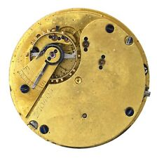 ENGLISH LEVER GOING BARREL HALF HUNTER POCKET WATCH MOVEMENT H107