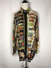 Rare Vtg Gianni Versace Paesi Cultures Silk Shirt