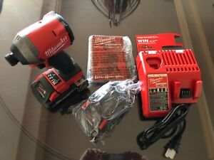 Milwaukee M18 1/4 hex fuel brushless Impact Driver - 2853-20 + (2) 3.0 Ah HO