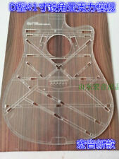 D Type 41 Inch Acoustic Guitar Acrylic Transparent Acrylic Template Making Molds