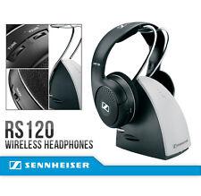 Sennheiser RS120 On-Ear Wireless RF Headphones w/ Charging Dock & Batteries *NEW