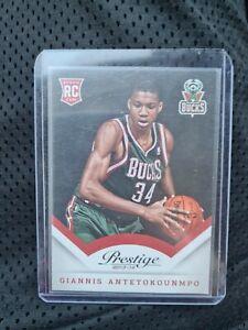 2013-14 Panini Prestige Giannis Antetokounmpo RC Rookie Card MVP